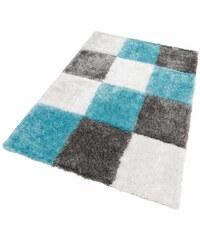KAYOOM Hochflor-Teppich Diamond 752 Höhe 50 mm handgearbeitet blau 2 (B/L: 80x150 cm),3 (B/L: 120x170 cm),4 (B/L: 160x230 cm),6 (B/L: 200x290 cm)