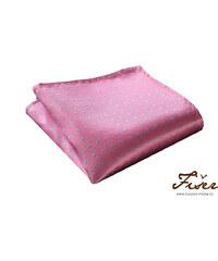 Fišer Hedvábný kapesníček růžový - modré tečky
