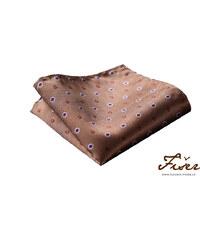 Fišer Hedvábný kapesníček hnědý s jemným vzorem