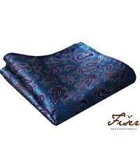 Fišer Tyrkysovo modrý kapesníček - paisley vzor