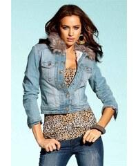 Laura Scott Laura Scott riflová bunda s kožíškem