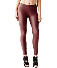 Guess Legíny Florentina Faux-Leather Leggings