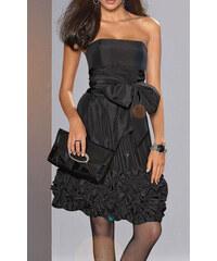 Apart Luxusní korzetové večerní společenské šaty APART Impressions v černé  barvě z elegantního lesklého taftu ee50991fcf