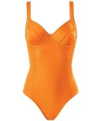 """Zeštíhlující stahovací plavky s efektem """"břicho pryč"""", košíček B, ve žluto-oranžové barvě od HEINE"""