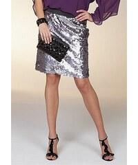Apart Úzká pouzdrová sukně APART s kovově lesklými pajetkami