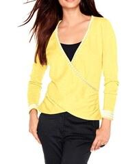 HEINE HEINE zavinovací dámský žlutý svetr