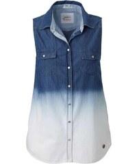 Pepe Jeans Značková riflová košile PEPE JEANS, dámská košile bez rukávů