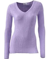 CLASS INTERNATIONAL Dámský zeštíhlující svetr s hedvábím CLASS INTERNATIONAL, svetr v barvě šeříku