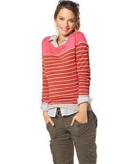 FLASHLIGHTS Značkový dámský pruhovaný svetr FLASHLIGHTS, svetr barevný