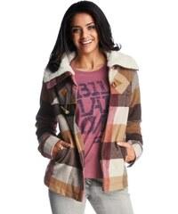 BILLABONG Dámská kostkovaná zimní bunda dlouhá BILLABONG, bunda barevná