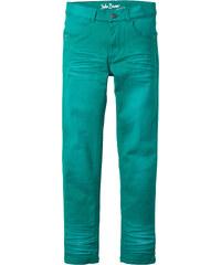 John Baner JEANSWEAR Slimfit Hose mit Used Effekten, Gr. 116-170 in grün für Jungen von bonprix