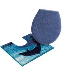 Badematte Stand WC-Set Grund Delphin Höhe 20 mm rutschhemmender Rücken GRUND natur 9 (2-tlg. Stand-WC-Set)