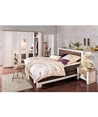 Baur Schlafzimmer-Set (5-tlg.) braun Pinienfarben weiß/trüffelfarben