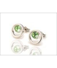 Kroužkové zelené náušnice
