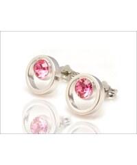Kroužkové růžové náušnice