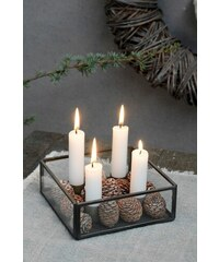IB LAURSEN Adventní box se svícnem Black 15x15