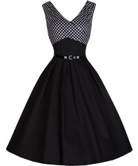 Retro šaty Lindy Bop Valerie Black