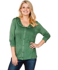 SHEEGO CASUAL Tričkový kabátek, sheego Classic zelená