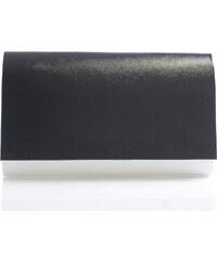 Luxusní bílé lakované psaníčko Royal Style 0025 s černou klopou bílá