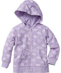 bpc bonprix collection Gilet matière sweat à capuche, T. 80/86-128/134 violet manches longues enfant - bonprix