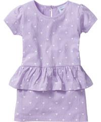 bpc bonprix collection Robe à volant, T. 80-134 violet manches courtes enfant - bonprix