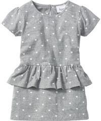 bpc bonprix collection Robe à volant, T. 80-134 gris manches courtes enfant - bonprix