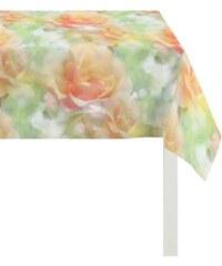 APELT Tischdecke 2108 Aquarell Rose gelb 95x95 cm