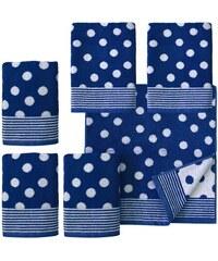 Dyckhoff Handtuch Set Dots mit Punkten blau 6tlg.-Set (siehe Artikeltext)