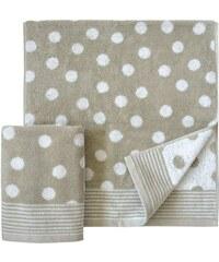 Handtücher Dots mit Punkten Dyckhoff natur 2xHandtücher 50x100 cm