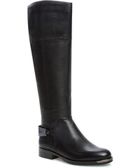 Kozačky ve vojenském stylu SCA'VIOLA - W1321-13-1 Black Leather