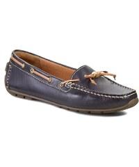 Mokasíny CLARKS - Dunbar Groove 261086584 Navy Leather