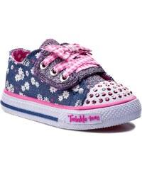 Polobotky SKECHERS - Daisy Dotty 10469N/DNPK Denim/Pink