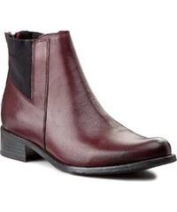 Kotníková obuv s elastickým prvkem SIMEN - 8687 C. Bordo