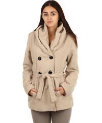 TopMode Moderní kabátek s dvojím límcem béžová