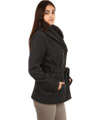 TopMode Moderní kabátek s dvojím límcem tmavě šedá