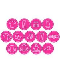 Mamiee Samolepky pro holky růžové - set 13 kusů