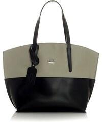 Dámská kožená kabelka MAZZINI Diordana - černo-šedá