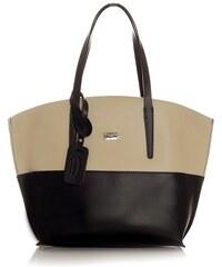 Dámská kožená kabelka MAZZINI Diordana - černá