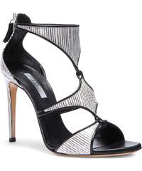 Sandales à talons hauts Casadei en cuir zebrine