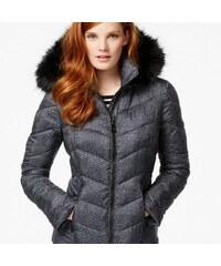 Guess Bunda Faux-Fur-Trim Geo Print Quilted Jacket