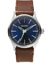Hodinky Nixon Sentry 38 Leather blue brown