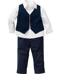 bpc bonprix collection Chemise bébé + veston + pantalon (Ens. 3 pces.) blanc manches longues enfant - bonprix