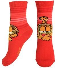 E plus M Dívčí ponožky Garfield - červené