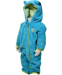 Bugga Chlapecký fleecový propínací overal - modrý