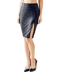 Guess Sukně High-Rise Velvet Pencil Skirt