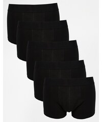 ASOS - Lot de 5 boxers taille basse - Noir - Noir