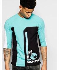 Pink Dolphin - T-Shirt mit 3/4-Ärmeln und Ball-Aufdruck - Schwarz