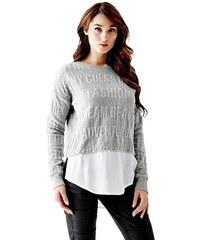 Guess Svetr Jacquard Two-Fer Sweater