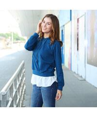 Lesara Sweatshirt avec volants contrastés