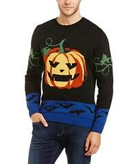 Run & Fly Herren Pullover Halloween Crazy Pumpkin